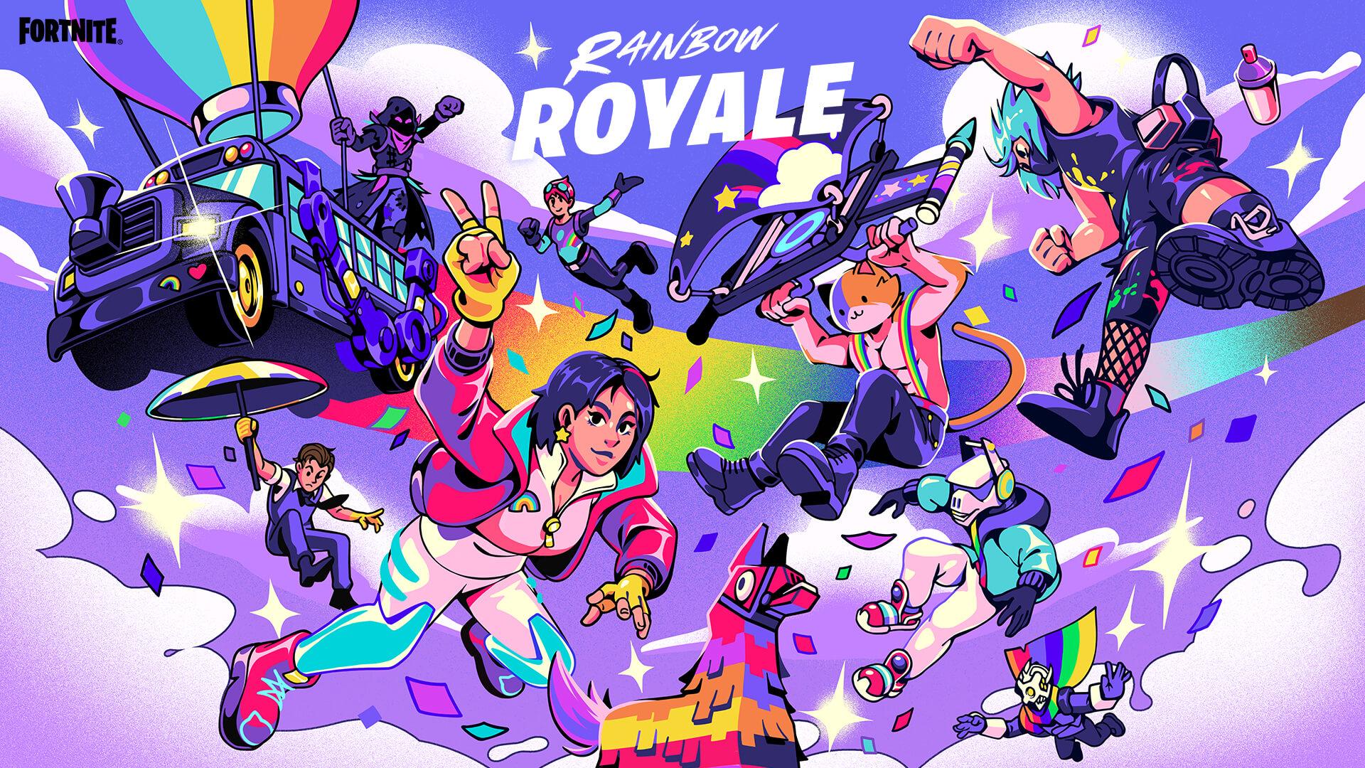 Fortnite eert de LGBTQIA+ community met Rainbow Royale