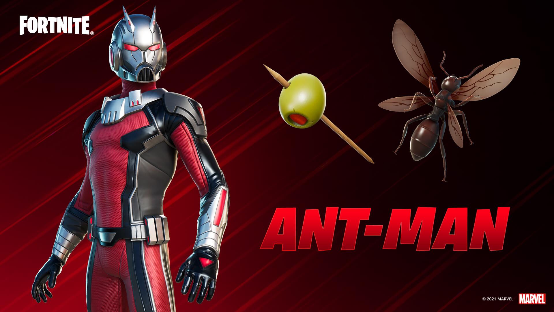 Ant-Man skin is vanaf nu beschikbaar in Fortnite