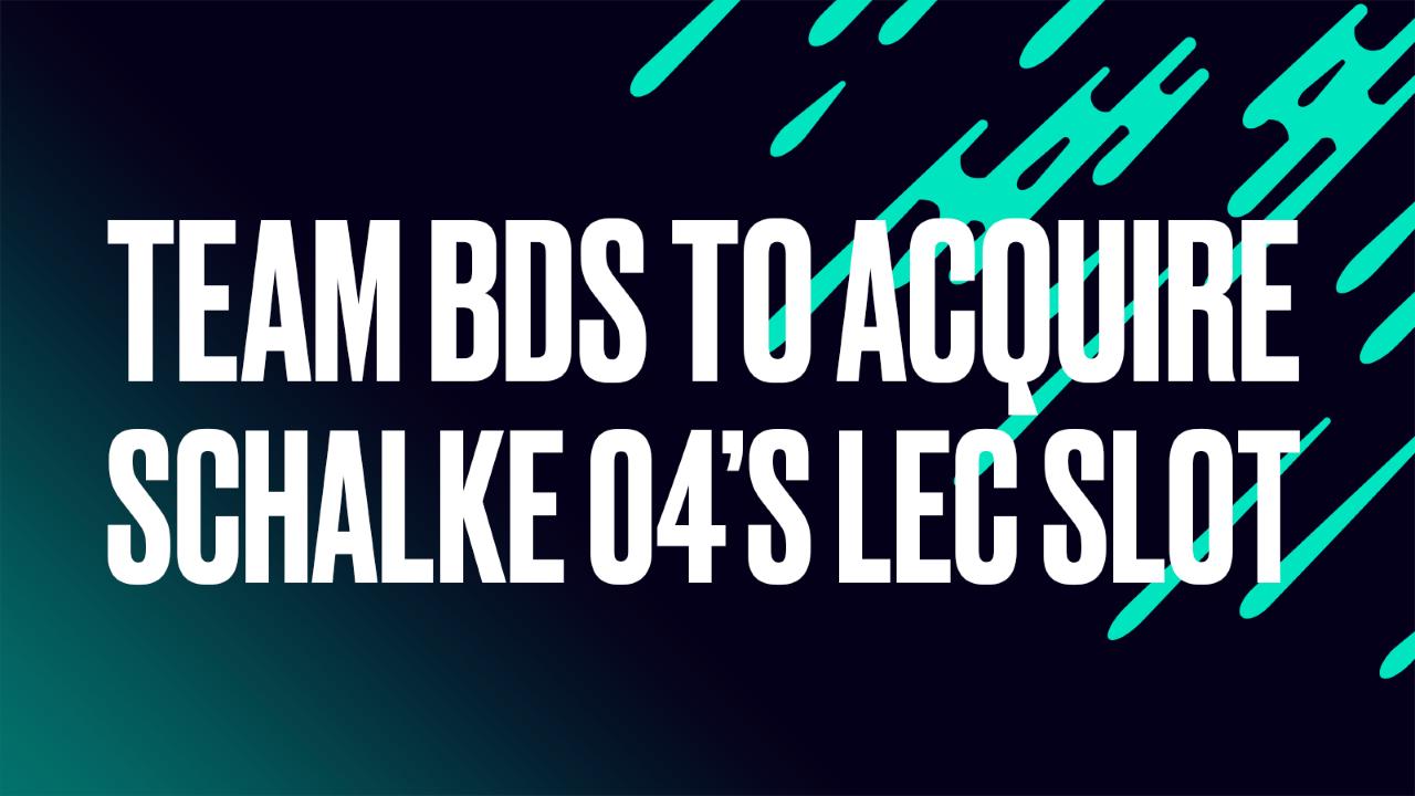 Schalke 04 verkoopt LEC-plek voor 31 miljoen dollar aan Team BDS