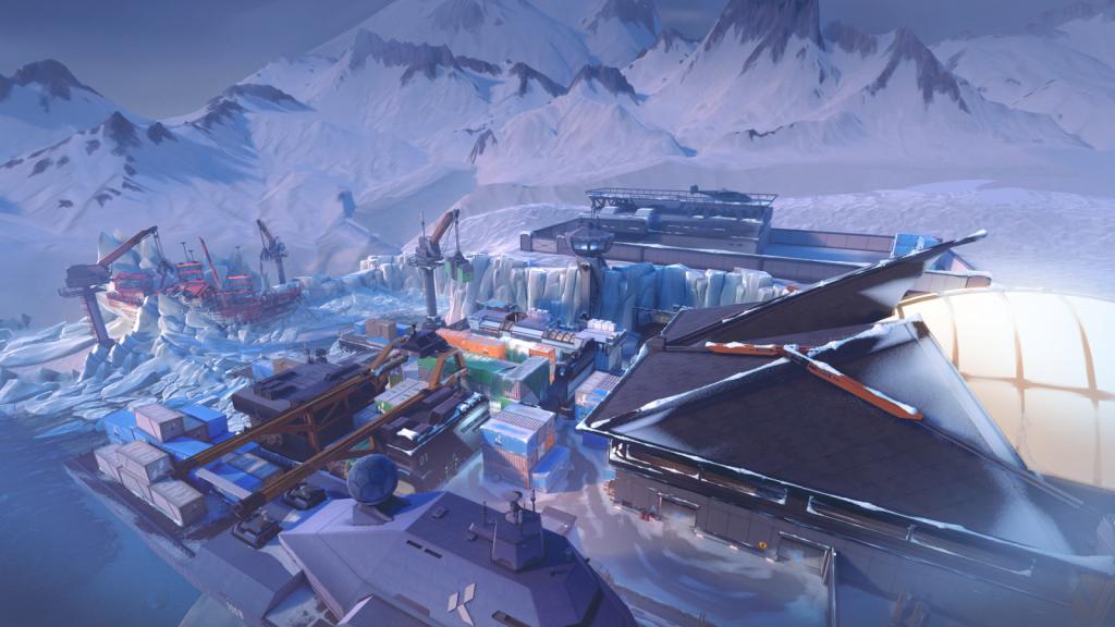 Valorant Icebox overview: de map op de Noordpool