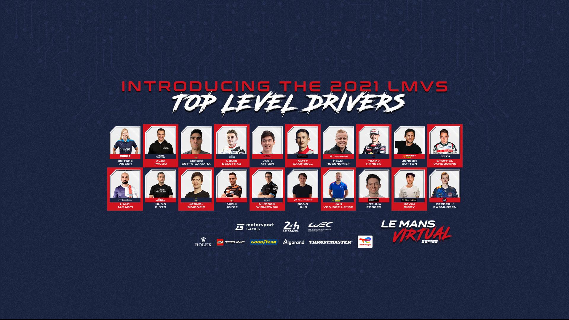 Dit zijn de coureurs voor de Le Mans Virtual Series
