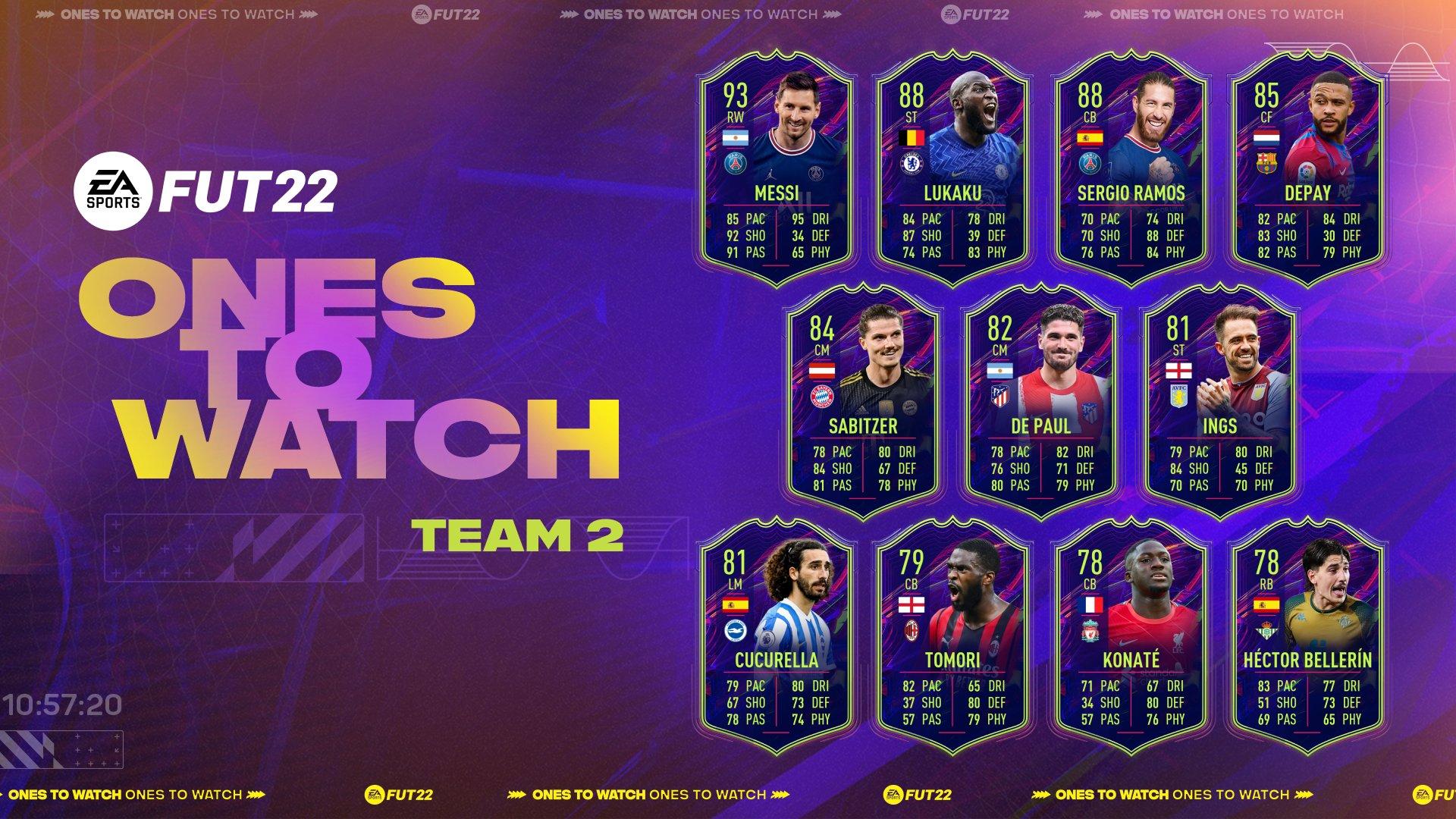 FIFA 22 Ultimate Team: Ones to Watch: de allereerste promo