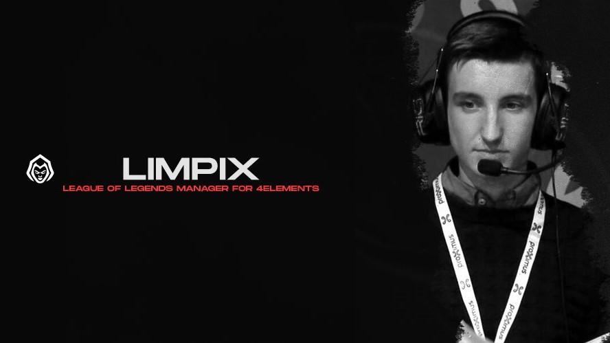 Limpix gepresenteerd als League of Legends manager 4Elements Esports
