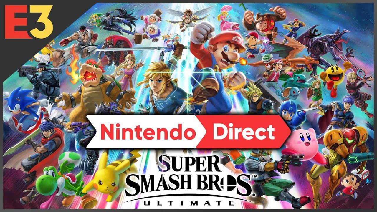 E3: wij verwachten één van deze Super Smash Bros Ultimate fighters