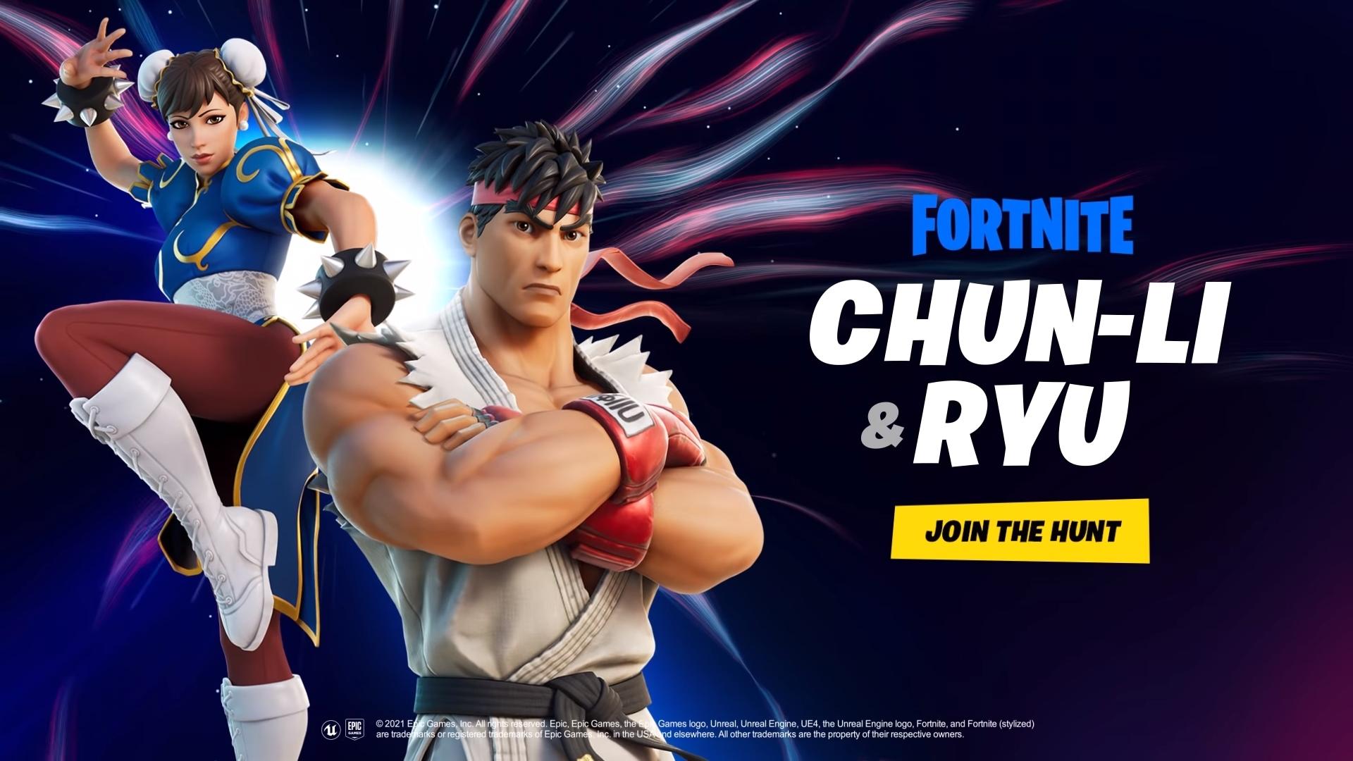 De twee Street Fighter krijgers zijn binnenkort beschikbaar in Fortnite