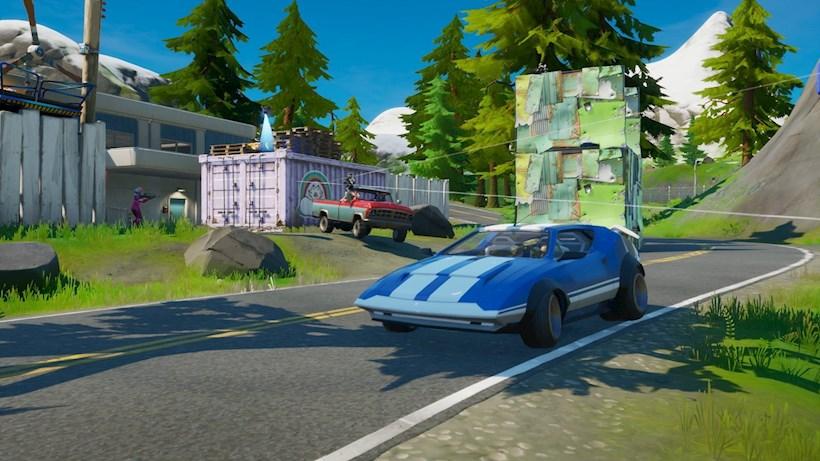 Auto's in Fortnite met Fortnite JoyRide in patch v13.40